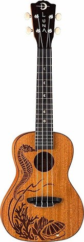 Uke Pearl seahorse Etched Pearl Inlay Concert Body Ukulele