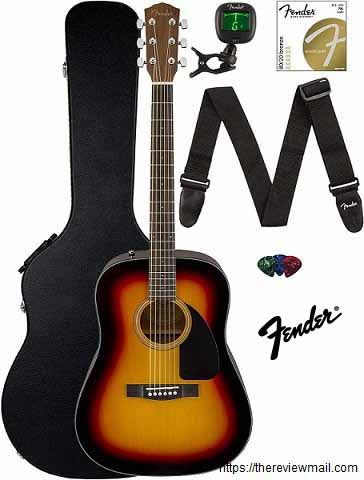 Fender CD 60 Dreadnought Acoustic Guitar Sunburst Review